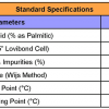 RBD Palm Olein Specifications for CP10, Click Here to View in Larger Format