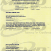 Certification from Ministry of Finance, Malaysia (MOF), Click Here to View in Larger Format