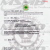Certification from Malaysian Rubber Board (MRB), Click Here to View in Larger Format