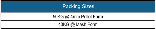 MSMD 603RF - Ruminant Feed Packing Sizes, Click Here to View in Larger Format