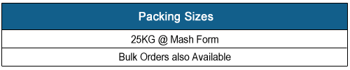 MSMD Palm Kernel Meal (PKM) Packing Sizes, Click Here to View in Larger Format